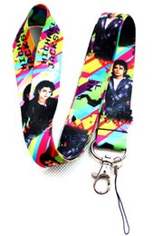 neck chains for women Coupons - Lot 20pcs Super Star Michael Jackson Designed LANYARD For Key Card ID Chain Neck Straps Party Gifts multicolor