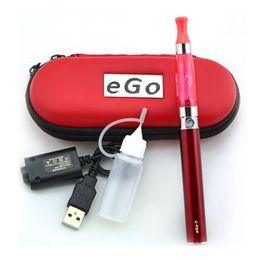 Wholesale Ego Twist Starter Kit Zipper - EGO CE4 Electronic Cigarette Kits Starter Kit Zipper Case ce4 Atomizer Vape eGo Battery 510 Thread fit MT3 EVOD Twist 3