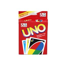 Wholesale Poker Board Games - 2017 UNO Standard Edition Poker Card Family Fun Entermainment Board Game Kids Funny Puzzle Game Christmas Gifts