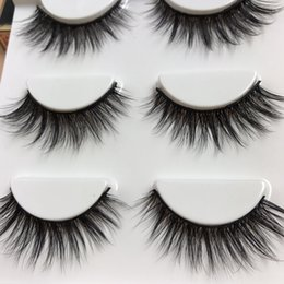 Wholesale Stems Hair - Thick Natural Long Makeup Fake Eyelashes Handmade Cotton Thread Stems False Eyelashes High Quality Fiber 3D Stereo Messy Cross Eye Lashes