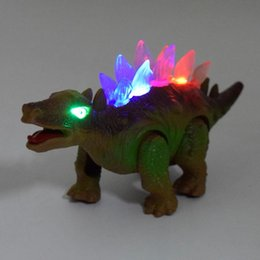 Wholesale Dinosaur Electric - Lighting dinosaur toy (singing, walking, simulation) electric dinosaur toys Hot plastic toys for children Halloween Christmas gift0093