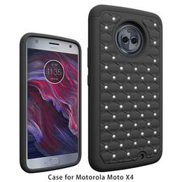 Wholesale Cellphone Star - For Motorola Moto X4 Armor Hybrid Diamond Case Studded Star Shining Cellphone Case For Motorola Moto X4 A