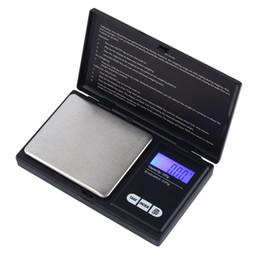 Wholesale Digital Weigh - 200g x 0.01g   500g x 0.1g Mini Digital Scale LCD Electronic Capacity Balance Diamond Jewelry Weight Weighing Pocket Scales