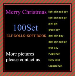 Wholesale Elves Toys - Free DHL Shipping 10 Style Christmas Elf Doll Plush toys Elves Xmas dolls and Soft Back Books on the shelf For Kids Holiday Christmas Gift