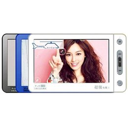 Wholesale Mp5 Video Player Tv - 2017 8GB 5 Inch Touch Screen MP3 MP4 MP5 Player Digital Video Media TV OUT Support TF 5600 mA long standby Lossless music