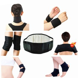 Wholesale Tourmaline Magnetic Neck Support - Self Heating Tourmaline Set Magnetic Tourmalin Massage Waist Belt Knee Elbow Wrist Ankle Neck Shoulder Support 11 Pcs Set