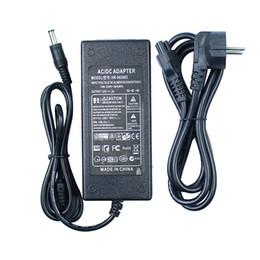 Wholesale 24v Adapter Plug - AC100-240V to DC 24V 2A EU Plug AC DC Power adapter charger Converter Adapter Power Supply for LED Strip Light CCTV 5.5mm 2.5mm