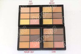 Wholesale Pro Chocolate - Free Shipping New Makeup Face Pro And Correct Palette 6 Colors Concealer!6g