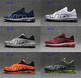 Wholesale Lace Material Shoes - Newest 2018 flair KPU material for men's running sport shoes top quality trainer sneakers black white max
