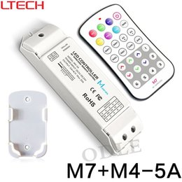 Wholesale mini m7 - M7+M4-5A rgb led controller rf M7 touch remote with M4 5A Receiver controller,6A*3CH Max 18A output mini rf rgb led controller