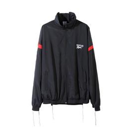 Wholesale Stand Up Collar Jackets - 2017 new hip hop skateboard best version vetements Men and women waterproof zipper up unisex movement Blazer jacket