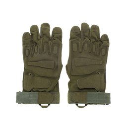 Wholesale Glove Paintball - Tactical Gloves Army Combat Men Military Police Soldier Paintball Outdoor Sport Hunt Mitten DM6#