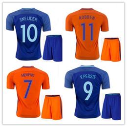 Wholesale Netherlands Away - 2016 Netherlands adult soccer jerseys kits Uniforms Maillot de foot 16 17 MEMPHIS ROBBEN SNEIJDER v. PERSIE home away sets football shirts