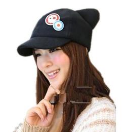 Wholesale Cat Hat Plush - Wholesale- Spot Movie Evangelion EVA Asuka cat ears hat plush Hat Peaked Baseball Cap Casquette Free Shipping