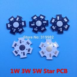 Wholesale Led Pcb Aluminium - Wholesale- 30pcs LED heat sink aluminium base plate 1W 3W 5W high power radiator Use for LED chip beads 20mm Black White PCB Board