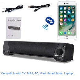 Wholesale Computer Speaker Bar - LP-09 Soundbar HIFI Box 10W USB Portable Audio Players Bluetooth Speaker with FM Column Sound Bar For Small TV Smart Phone Computer MIS152