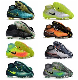 Wholesale Men Acc - 2017 Magista Obra II FG Mens Soccer Ckeats High Ankle Top Quality Magistas ACC Football Boots Cheap Soccer Shoes New Arrival Botas de Futbol