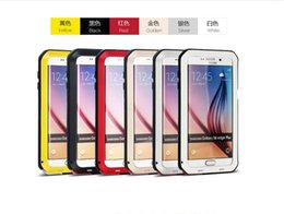 Wholesale Mobile Dust - For Samsung s6Edge +   G9280 mobile phone splash water, drop, anti-dust three anti-metal protective cover a variety of colors optional