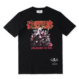 Wholesale Man Metal Neck - Fear Of God208 T shirt Heavy Metal Black FOG T-shirts Rock Music Metallica Print Fashion Unisex Tees For Man S-XL