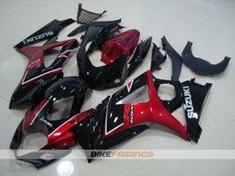 Wholesale Gsxr Abs Motorcycle Fairing - New ABS motorcycle Bodywork For SUZUKI GSXR1000 2007 2008 K7 GSXR-1000 07 08 GSX-R1000 GSXR 1000 07 08 Fairing Kit Body red black