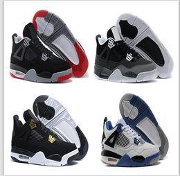 2019 livraison gratuite eminem Nike Air Jordan Retro Shoes Nouveau 4 IV Eminem Chaussures De Basket Pour Hommes Noir Denim Invaincu Encore Bleu Vert Olive Mens Sneakers Version livraison gratuite livraison gratuite eminem pas cher