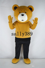 Wholesale teddy bear mascots - 2017 new Teddy bear mascot high quality cartoon costume ted adult size fancy dress party carnival parade free shipping Factory direct sale
