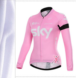 Wholesale Women S Coat Thermal - HotNew 2015 women Winter Warm thermal fleece Cycling Jerseys Bike Bicycle Clothing Coat pro team Outdoor Sport Cycling Jersey can customize