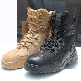 Wholesale Side Zipper Combat Boots - Training Boots Men's fashionshoes store Delta special forces desert boots side zipper boot outdoor Desert combat army Mens Outdoor leisure