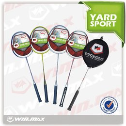 Wholesale Brand Badminton Rackets - 2017 AAA Winmax Brand Good Quality And colourful And Soft Graphite Badminton Racket With a Badminton Bag For Racquet Sports Outdoors