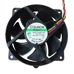 Wholesale 12v Cpu Fans - Free Shipping 100% New SUNON KDE1209PTVX 9225 9025 9cm 92mm Maglev Round CPU Case Cooler Cooling Fan 12V 7W 4.4W 4Pin PWM