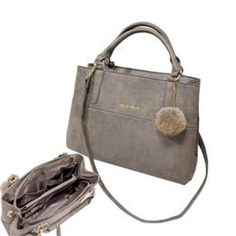 Wholesale Cell Phone Bulbs - Wholesale- Women leather handbags winter fashion nubuck leather handbag vintage messenger bag handbag women's decoration bulb shoulder bag