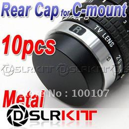 Wholesale Cctv Covers - Wholesale-10pcs Metal C mount Rear Lens Cover cap for CCTV TV Lens