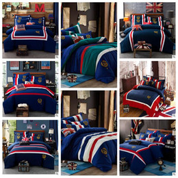Wholesale Duvet King 4pcs - 8 Styles Christmas Gift 4pcs Bedding Sets Europe Type Style Embroidered Duvet Covers for King Size Bedding Duvet Cover Sheets CCA7584 1set
