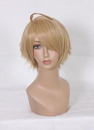Wholesale Hetalia Wigs - MCOSER Free Shipping Simple and Generous Hetalia Alfred F Jones Flaxen 30cm Short Straight Male Cosplay Wig