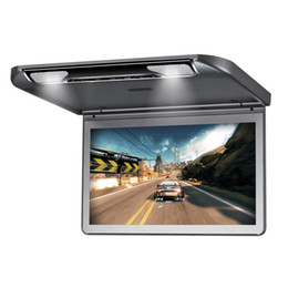 Wholesale Tv Roof Mounts - 13.3'' 1920x1080 Resolution Car Roof Mount Monitor Flip down Over head Car Ceiling Wide LCD Monitor Display Auto TV Monitor HDMI