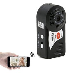Wholesale Video Camera Microphones - Mini Wifi DVR Wireless IP Camcorder 480P Video Recorder Camera Infrared Night Vision Camera Motion Detection Built-in Microphone