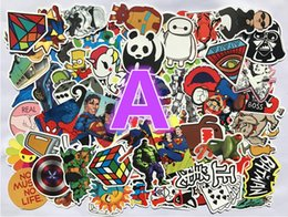 Wholesale Cute Animal Stickers - 100pcs Pack Random Music Film Vinyl Skateboard Guitar Travel Doodle Graffiti Decal Cute Fashion Car Funny Stickers