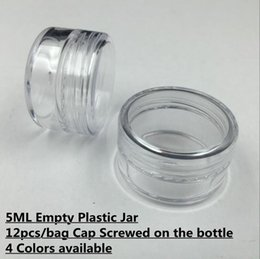 Wholesale Empty Cases - 12Pcs Bag Plastic 5ML 5Gram Cosmetic Cream Jar Container Sample Jar Display Case Cosmetic Packaging Mini Nail art plastic Empty bottle