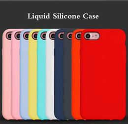Wholesale Cell Christmas Cases Wholesale - Christmas gift genuine Slim Liquid Silicone rubber protective Cell Phone Soft Case for iPhone X 10 8 8plus 6 6s 7 Plus 7plus cases