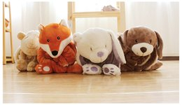 Wholesale Cute Pillow Blankets - New baby pillow microfiber cute animal pillow and soft blanket set indoor and outdoor functional 2017 new design