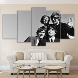 "Wholesale Rocks Picture - 60""x32"" Large Canvas Giclee Print Painting the Beatles Group Rock Band Picture Art, Modern Home Decorations Wall Art, No Frame"
