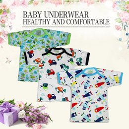 Wholesale Rich Coats - (20 piece) New infant Baby half back baby tops infant underwear singleton coat pure cotton shirt Good Quality Pattern rich Square collar