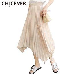 Wholesale Irregular Hem Skirt - CHICEVER 2017 Women Summer Pleated Long Skirt Print A Line Loose Midi Skirts Saia Plissada Casual Irregular Hem Fashion