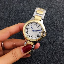 Wholesale Designer Watches For Ladies - Unisex Casual watches men women luxury brand Designer Rome dial Automatic date Stainless Steel band Quartz watch For mens Ladies best gift