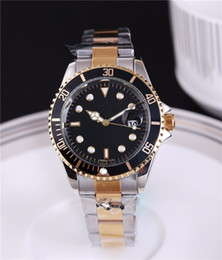 Wholesale Navy Blue Silver Bracelets - 40mm automatic date calendar luxury fashion Gold and silver bracelet of the alloy steel belt movement quartz master clock man gifts