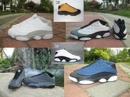 Wholesale Quai 54 - 2017 new 13 XIII Retro Low QUAI 54 Q54 men basketball shoes cheap air 13s Low Olympic Infrared retro Sports mens sneakers shoes