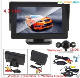 "Wholesale Car Cam Wireless - Wireless 4.3""TFT LCD Car Monitor+Night Vision Whaterproof CMOS Car Rear View CAM"