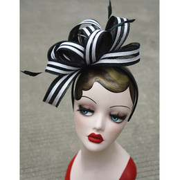 Wholesale Sinamay Cocktail Hat - Accessories Womens Vintage Sinamay Fascinator Cocktail Party Headband Church Dress Wedding Kentucky Derby Hats Headband T222