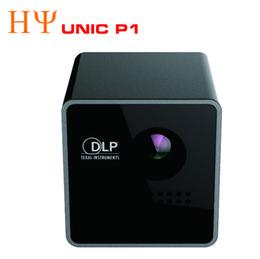 Wholesale Dlp Proyector - Wholesale- Original UNIC P1 DLP Projector 15 Ansi Lumen Mini Tiny Handheld Pocket Proyector Built-in Battery Home Cinema Theater Beamer