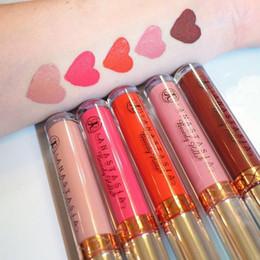 kylie jenner marque de maquillage Promotion Gros-10 couleurs brillant à lèvres Sexy Matte Waterproof Makeup Lipstick Liquid Gloss 8 pièces / lot bateau gratuit